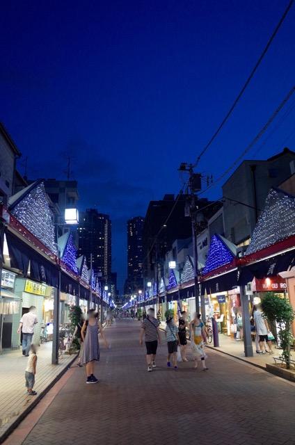 月島の商店街