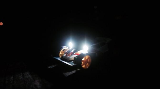 【ミニ四駆百景】ジオエンペラー in 夜の漫湖公園