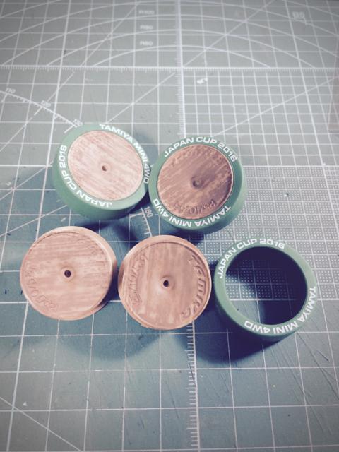 ホイール木目塗装1