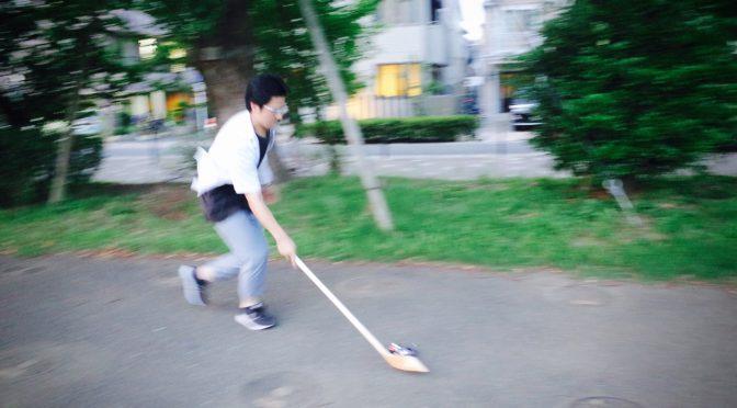 暑い日はストリートミニ四駆の練習を!