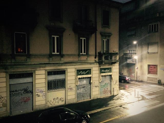 ミラノのホテルからの景色