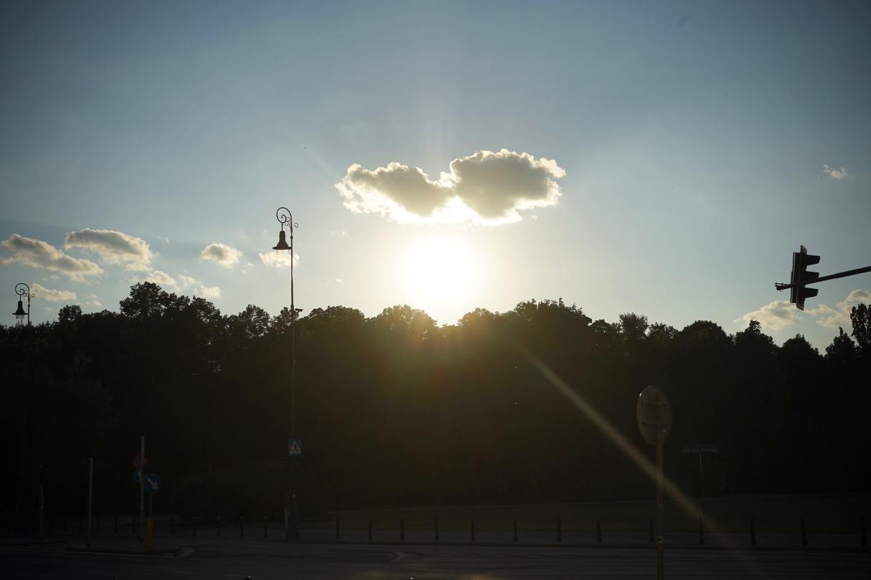 ワルシャワの夕日