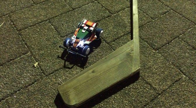 ストリートミニ四駆夜間練習。ベンパーマシン初走行!/Street Mini4WD night training with Bemper the first run!
