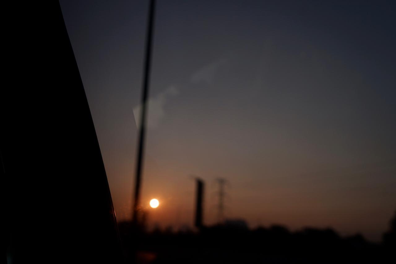 ジャカルタの朝日