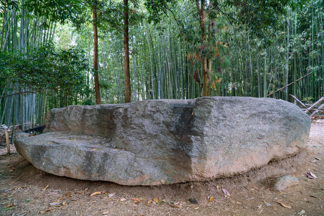 横から見た酒船石