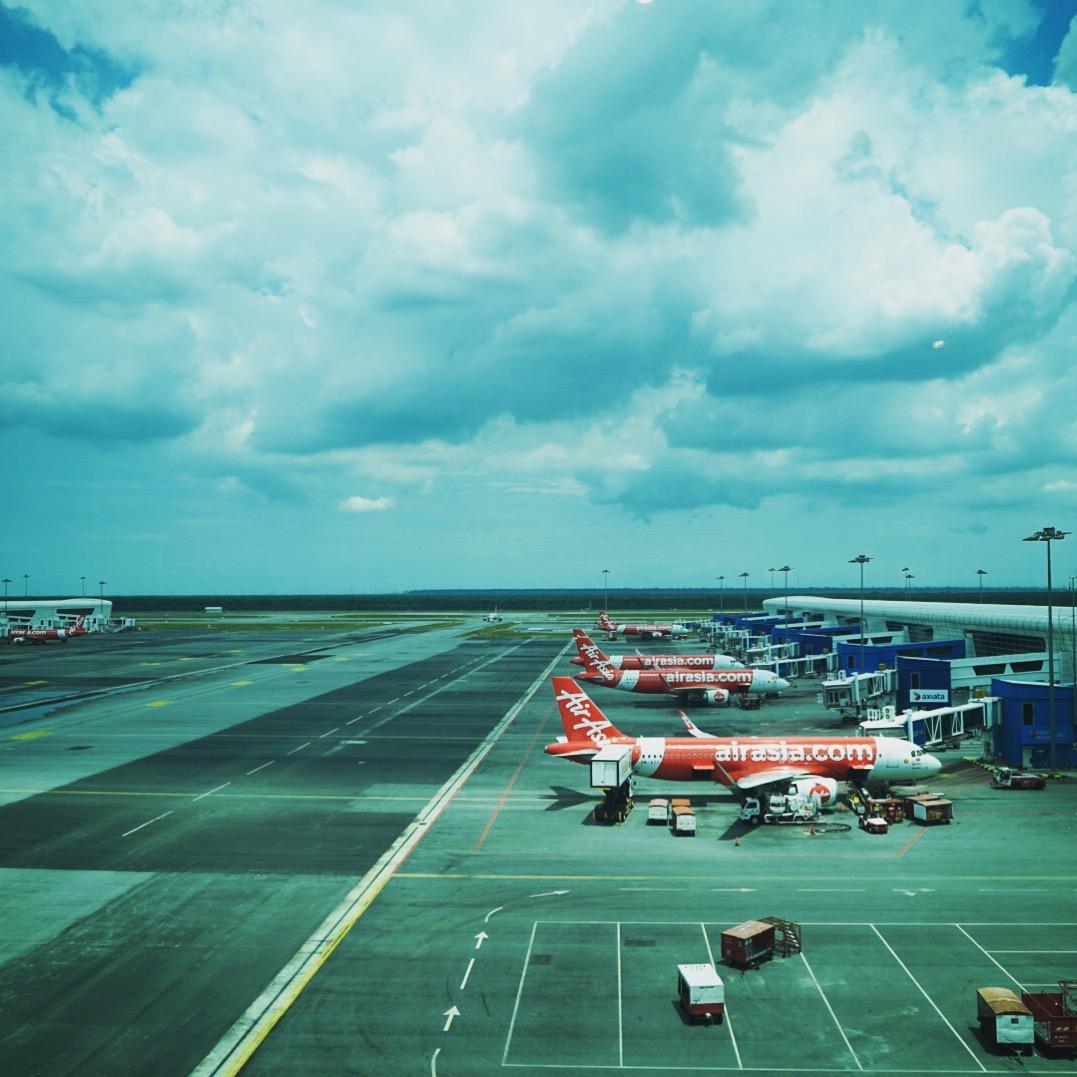 マレーシアの空港にて