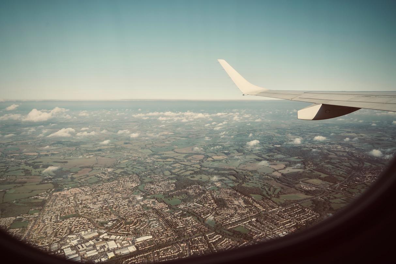 飛行機から見たローマ郊外