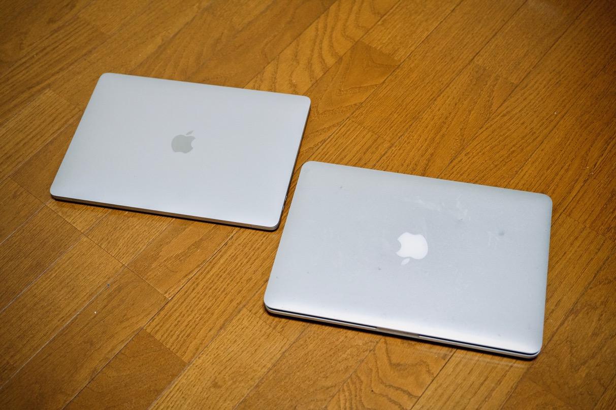 新旧MacBook Pro